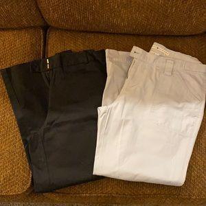 Bundle 2 pair-black ankle pants & light blue pants